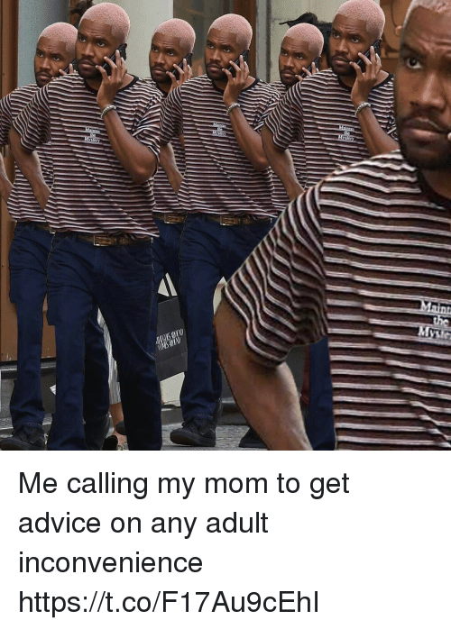 Advice, Funny, and Inconvenience: Me calling my mom to get advice on any adult inconvenience https://t.co/F17Au9cEhI