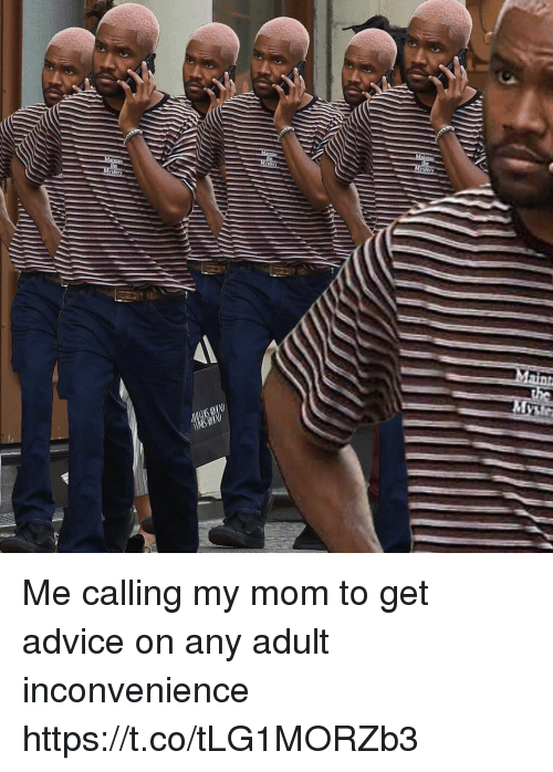 Advice, Funny, and Inconvenience: Me calling my mom to get advice on any adult inconvenience https://t.co/tLG1MORZb3