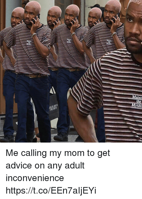 Advice, Funny, and Inconvenience: Me calling my mom to get advice on any adult inconvenience https://t.co/EEn7aIjEYi