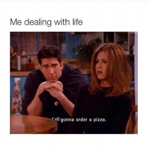 Life, Pizza, and Girl Memes: Me dealing with life  dl'm gonna order a pizza.