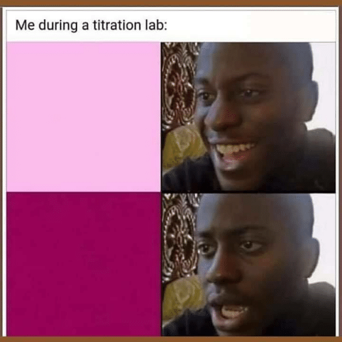 titration: Me during a titration lab: