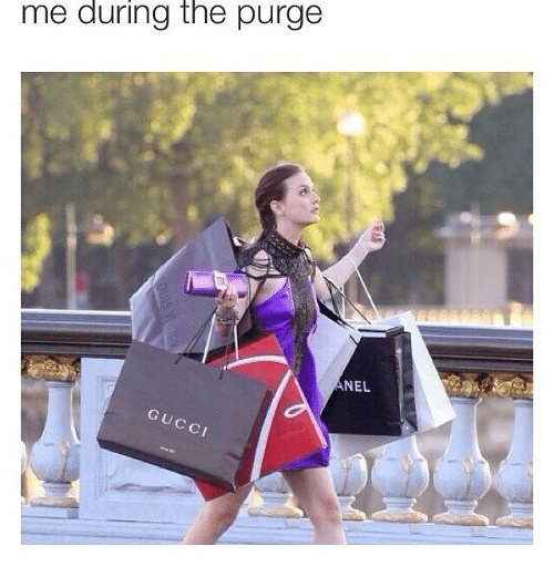 The Purge: me during the purge  ANEL  GUCCI