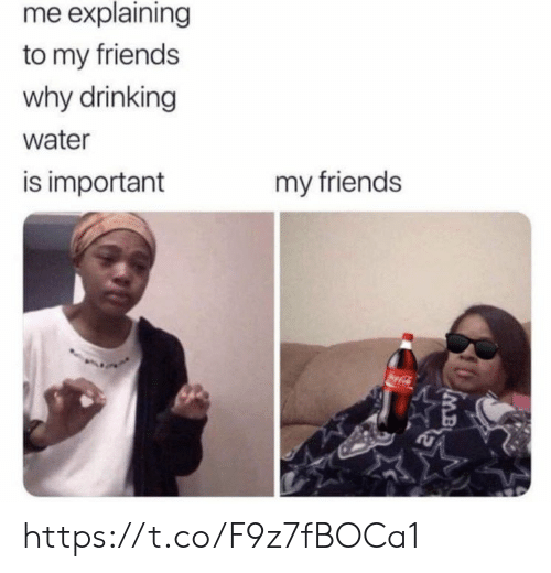 oca: me explaining  to my friends  why drinking  water  is important  my friends  oca-Cl  IMB https://t.co/F9z7fBOCa1
