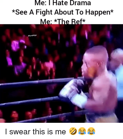 Hood Clips: Me: Hate Drama  *See A Fight About To Happen*  #hood clips I swear this is me 🤣😂😂
