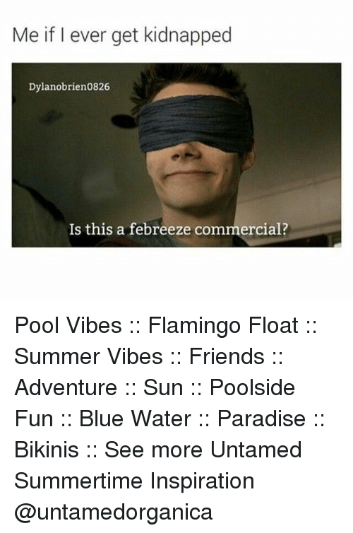 Friends, Paradise, and Summer: Me if I ever get kidnapped  Dylanobrien0826  Is this a febreeze commercial? Pool Vibes :: Flamingo Float :: Summer Vibes :: Friends :: Adventure :: Sun :: Poolside Fun :: Blue Water :: Paradise :: Bikinis :: See more Untamed Summertime Inspiration @untamedorganica