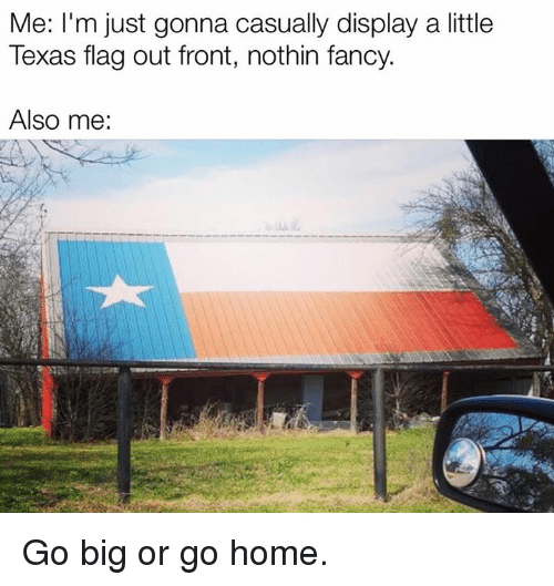Texas, Big, and Flags: Me: I'm just gonna casually display a little  Texas flag out front, nothin fancy.  Also me: Go big or go home.