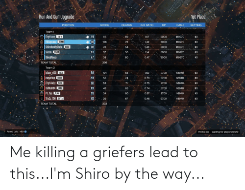 by the way: Me killing a griefers lead to this...I'm Shiro by the way...