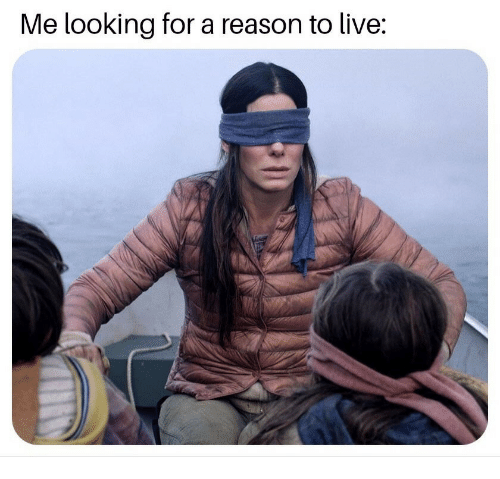 Me Looking For: Me looking for a reason to live: