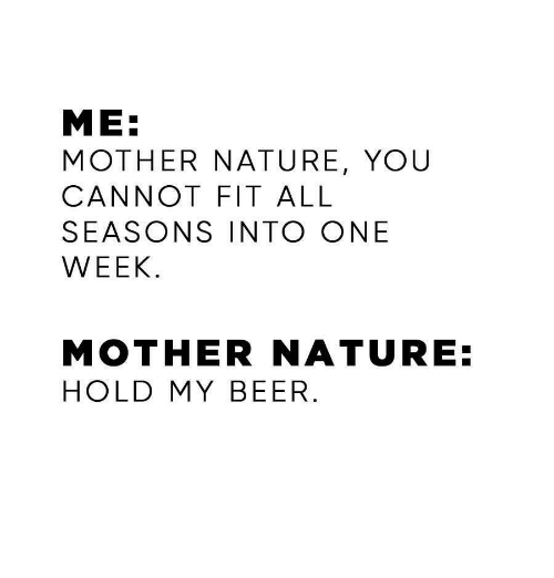 Image result for mother nature+hold my beer