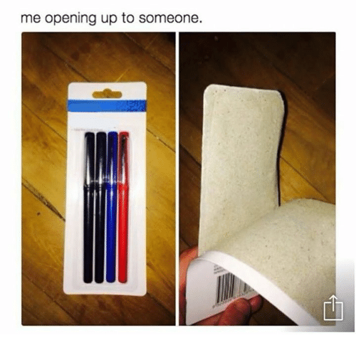 Someone, Opening, and Me Opening Up to Someone: me opening up to someone.
