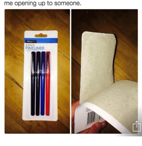 Humans of Tumblr, Someone, and  Pack: me opening up to someone.  PACK  FINELINER