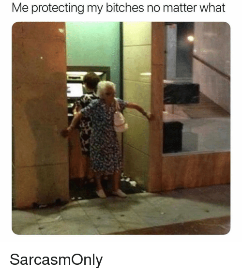 Funny, Memes, and What: Me protecting my bitches no matter what SarcasmOnly