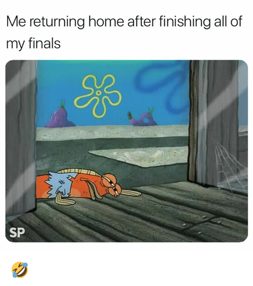 Finals, Home, and All: Me returning home after finishing all of  my finals  SP 🤣