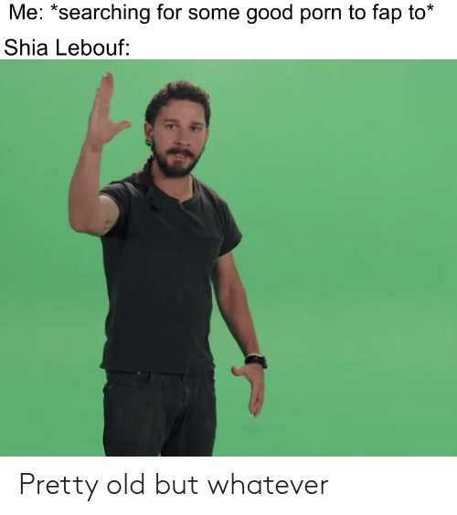 """Shia Lebouf: Me: """"searching for some good porn to fap to*  Shia Lebouf: Pretty old but whatever"""