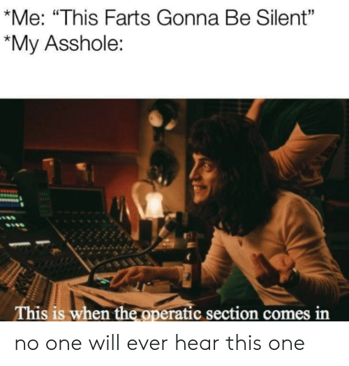 """farts: *Me: """"This Farts Gonna Be Silent""""  *My Asshole:  This is when the operatic section comes in no one will ever hear this one"""