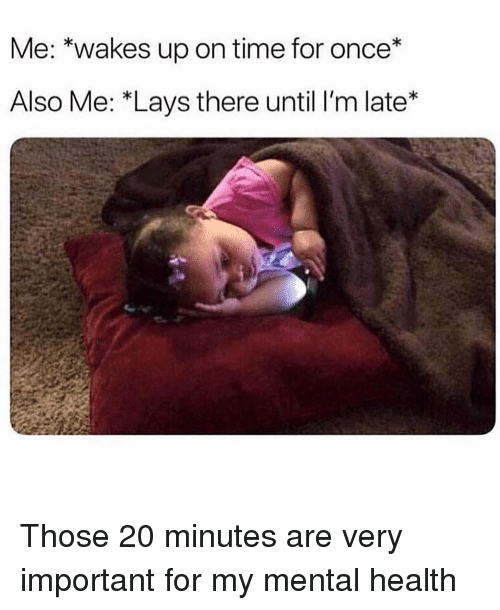Lay's: Me: *wakes up on time for once*  Also Me: *Lays there until lI'm late* Those 20 minutes are very important for my mental health