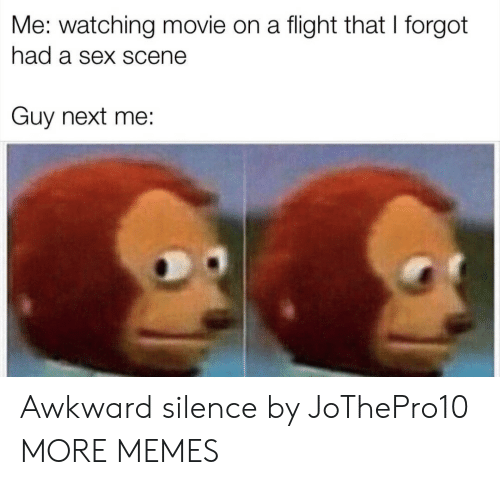 watching movie: Me: watching movie on a flight that I forgot  had a sex scene  Guy next me: Awkward silence by JoThePro10 MORE MEMES