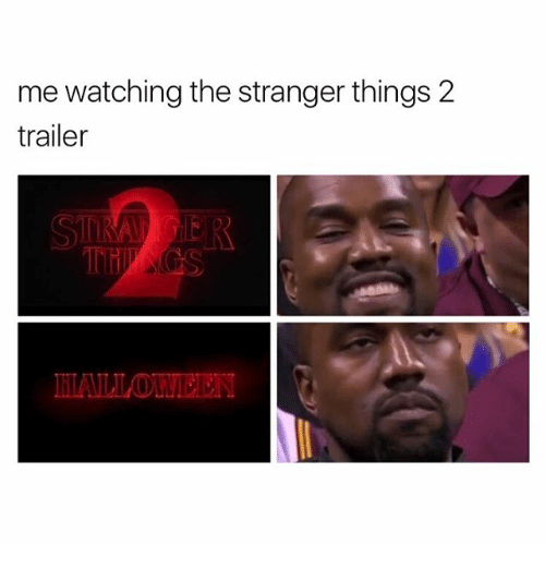 the strangers: me watching the stranger things 2  trailer