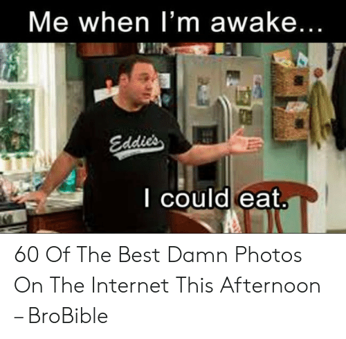 Funny Hungry Memes: Me when I'm awake...  Edd  I could eat 60 Of The Best Damn Photos On The Internet This Afternoon – BroBible