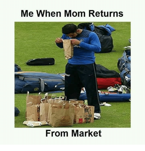 Memes, Mom, and 🤖: Me When Mom Returns  From Market