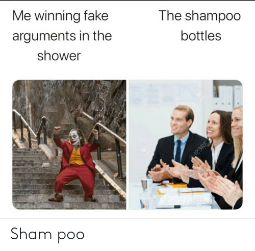 the the: Me winning fake  arguments in the  The shampoo  shower  bottles  123RF  123RF Sham poo