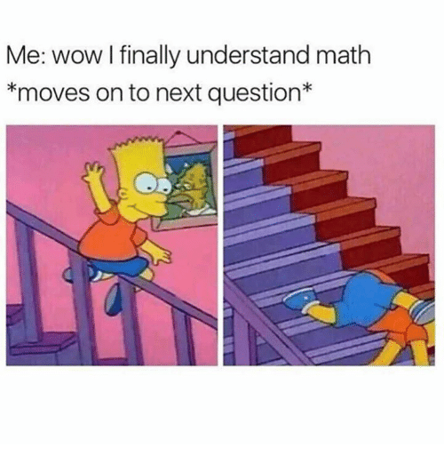 Memes, Wow, and Math: Me: wow I finally understand math  *moves on to next question