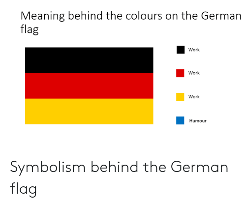 symbolism: Meaning behind the colours on the German  flag  Work  Work  Work  Humour Symbolism behind the German flag