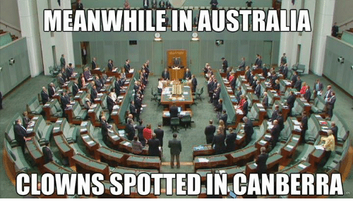 Meanwhile In Australia: MEANWHILE IN AUSTRALIA  CLOWNS SPOTTED IN CANBERRA