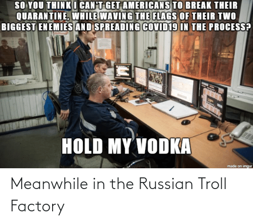 Russian: Meanwhile in the Russian Troll Factory