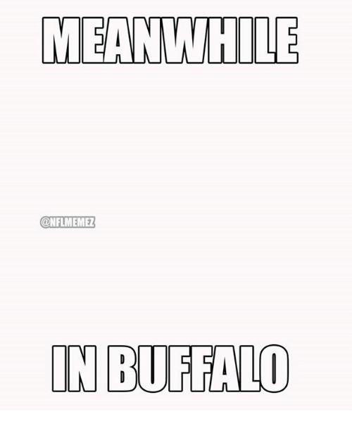 NFL: MEANWHILE  ONFLMEMEZ  IN BUFFALO