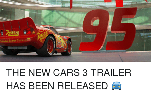 Funny, Medical, and Cars 3: medicated BuMPER OINTMENT THE NEW CARS 3 TRAILER HAS BEEN RELEASED 🚘