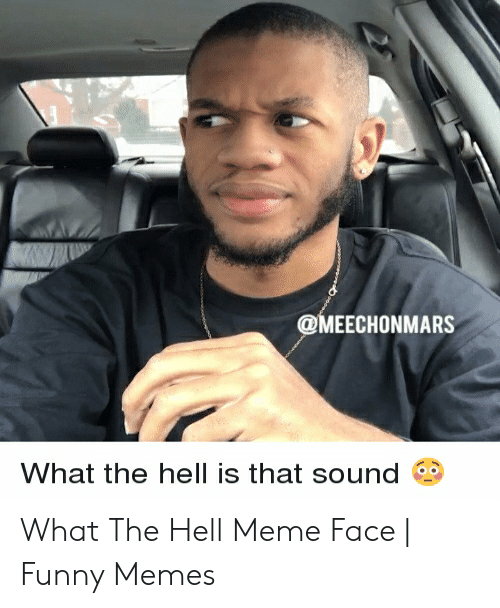 What The Hell Meme: @MEECHONMARS  What the hell is that sound What The Hell Meme Face | Funny Memes