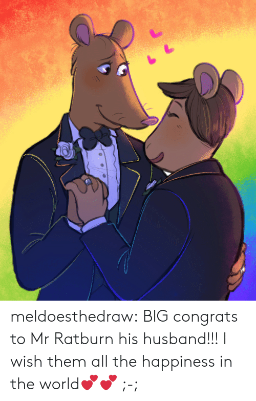 Happiness In: meldoesthedraw: BIG congrats to Mr Ratburn  his husband!!! I wish them all the happiness in the world💕💕 ;-;