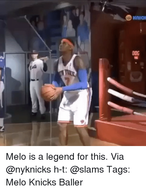 New York Knicks, Memes, and 🤖: Melo is a legend for this. Via @nyknicks h-t: @slams Tags: Melo Knicks Baller