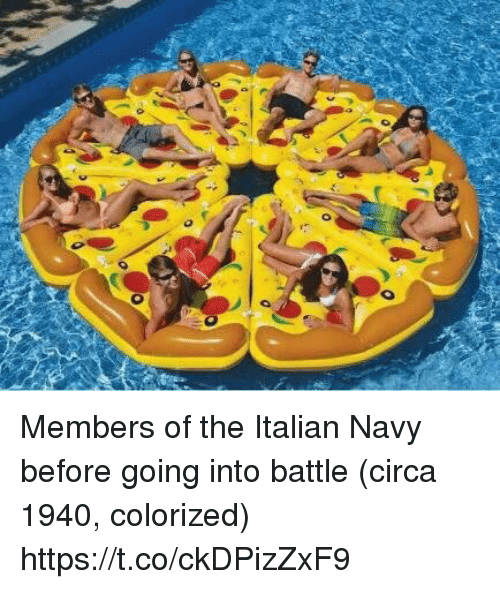 Italian Navy: Members of the Italian Navy before going into battle (circa 1940, colorized) https://t.co/ckDPizZxF9