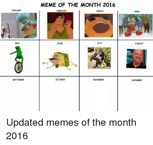 Color Of The Month February 2016: MEME OF THE MONTH 2016 TANUARY FEBRUARY MARCH A RIL JUNE