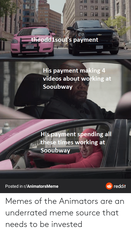 meme source: Memes of the Animators are an underrated meme source that needs to be invested