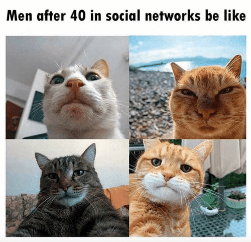 networks: Men after 40 in social networks be like