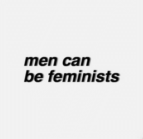 Can, Men, and Feminists: men can  be feminists