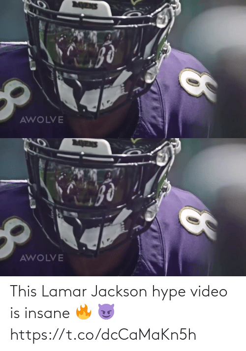 lamar: MENS  AWOLVE   MENS  AWOLVE This Lamar Jackson hype video is insane 🔥 😈 https://t.co/dcCaMaKn5h