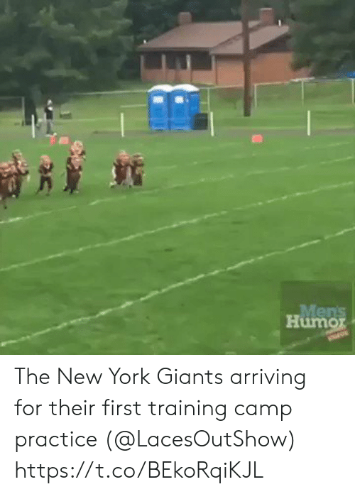 New York Giants: Mens  Humor The New York Giants arriving for their first training camp practice (@LacesOutShow)  https://t.co/BEkoRqiKJL
