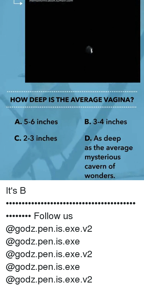 how deep is the averae vagina