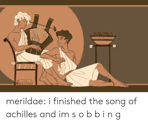 achilles: merildae: i finished the song of achilles and im s o b b i n g