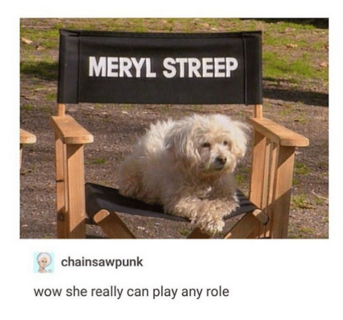 Wow, Meryl Streep, and Can: MERYL STREEP  chainsawpunk  st  wow she really can play any role