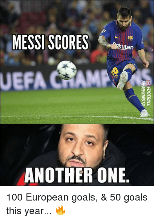 Anaconda, Another One, and Goals: MESSI SCORES  kuten  UEFA CHAMPS  ANOTHER ONE 100 European goals, & 50 goals this year... 🔥