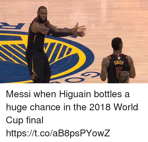 Soccer, World Cup, and Messi: Messi when Higuain bottles a huge chance in the 2018 World Cup final https://t.co/aB8psPYowZ