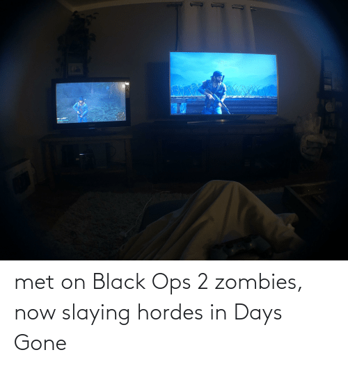 slaying: met on Black Ops 2 zombies, now slaying hordes in Days Gone