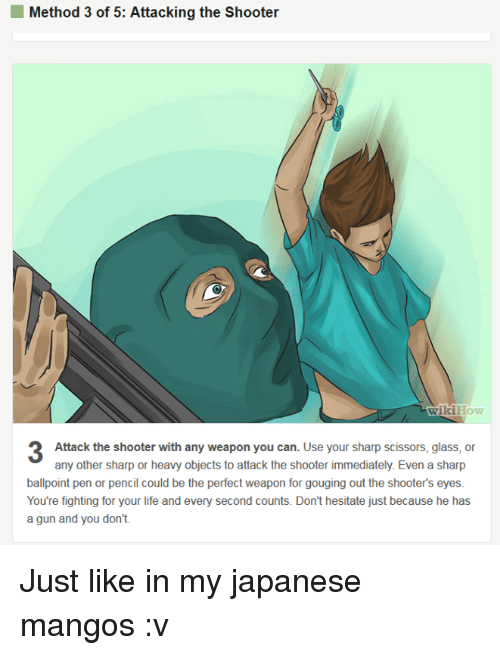 Method 3 of 5 attacking the shooter wikihow attack the shooter with guns life and memes method 3 of 5 attacking the shooter wikihow ccuart Image collections