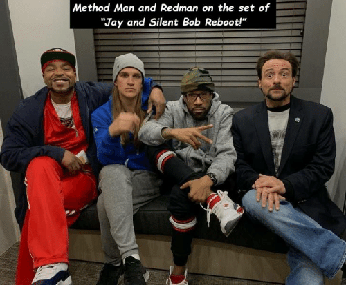 """jay and silent bob: Method Man and Redman on the set of  """"Jay and Silent Bob Reboot!"""""""
