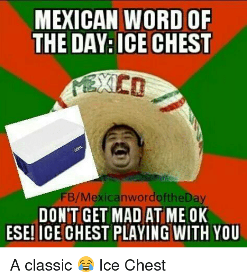 mexican word of the day ice chest fb mexican wordoftheday dont 243618 word meme mexican word of the day ice chest fbmexican,Don T Get Mad Meme